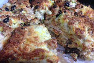 پیتزا چهار طبقه جسی جیمز