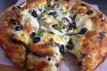 پیتزا دوطبقه پالرمو 22 سانتی متری